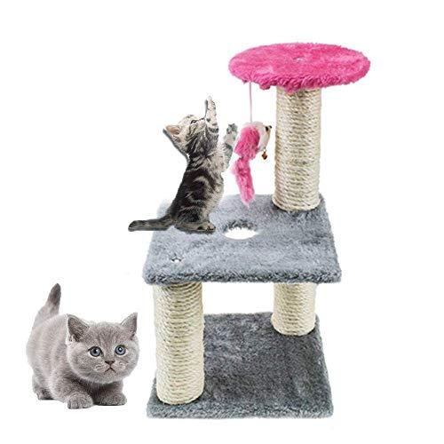LuoMei Cat Scratching Cat Scratching Board Tree Cat Scratch Tower Dangling Scratcher Activity Toy Pet Game Center Climbing Cat Scratching Column Cat Scratching Column Mouse Cat Scratching DeviceQ8,