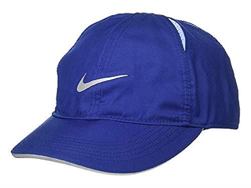 Nike Damen W NK FTHLT Cap Run Hat, Blue Void/Aluminum/Reflective, MISC