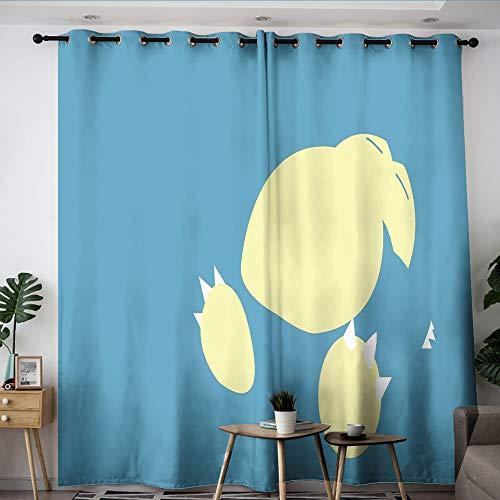 Elliot Dorothy poke-mon Pika chu cartoon Thermal Insulated Curtains Treatment Curtains Room Darkening Wide Curtains for Windows decoration W42 x L72