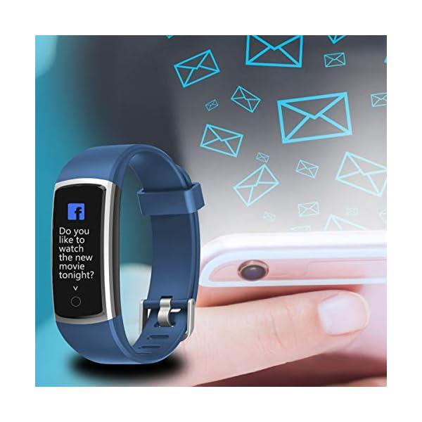 CHEREEKI Pulsera Actividad, Pulsera de Actividad con Monitor Ritmo Cardíaco Medición de la presión Arterial IP68… 7