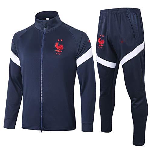 LQRYJDZ Football Training Anzug Frankreich Club Team Wettbewerb Anzug Sportswear Jacket Set Fan-Made Football Herrenjacke-Anzug (Multiple-Auswahlmöglichkeiten) (Color : A, Size : S)