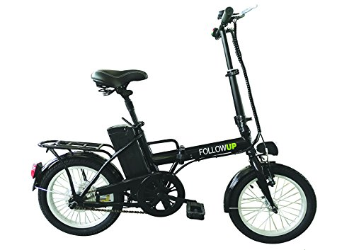 FOLLOW UP E05 Bicicleta eléctrica Plegable para Adulto, Color Negro