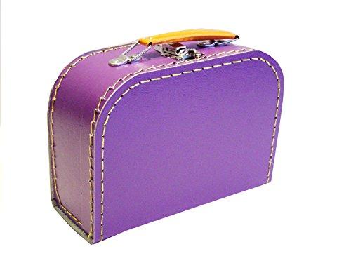 Koffer Pappe, lila, violett, mittel, 20cm, Pappkoffer