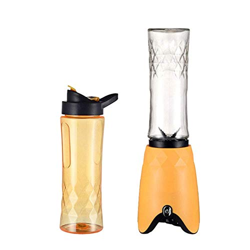180W Blender Smoothie Maker – Electric Juicer Grinder for Fruit, Vegetables, Protein Shakes – BPA Free 500Ml Portable Sports Bottle, Grinder, Blending Jar,Orange