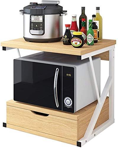 Multifunción Almacenamiento de microondas horno de carro estante de la cocina de escritorio estante de almacenamiento Armario creativo for ahorrar espacio Microondas condimento rack multi-capa LINGZHI