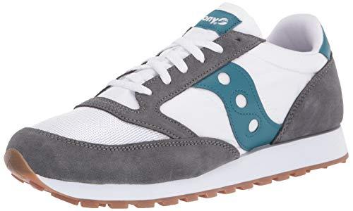 Saucony Jazz Original Vintage Grey/White/Teal, Zapatillas de Atletismo Hombre, 44.5 EU