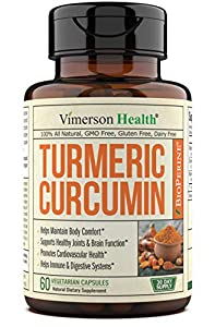 Joint support – We've specially formulated our Turmeric Curcumin to help to support your joint function and reduce occasional discomfort in your knee, shoulder, hip, back bone and other joints.* Immune support – We also want to help support your immu...