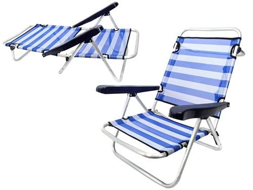 Monty LOLAhome Silla Baja Plegable con 4 Posiciones de Playa o Camping...