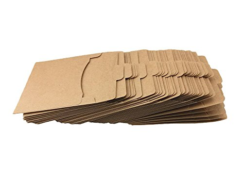 Honbay 40pcs Kraft Paper CD Sleeves DVD Envelops Cardboard Wallets
