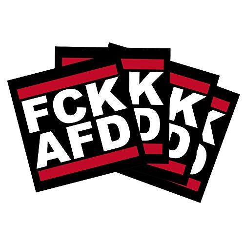 FCK AFD Sticker/Aufkleber / 5,2x5,2cm
