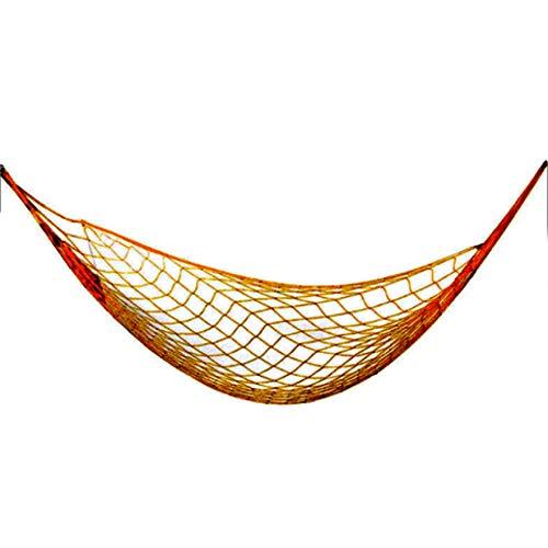 RJA Net Mesh Hammock Nylon Hammock Summer Hanging Mesh Sleeping Bed Swing Outdoor Camping Travel, 200 x 80 cm, Orange