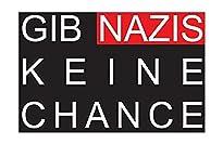Keine Chance für Nazis - Aufnäher, Farbe: Schwarz/Rot/Weiß