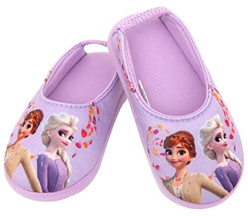[ディズニー] アナと雪の女王2 Frozen 2 エルサ アナ 女の子 子供用 室内履き キッズ スリッパ ルームシューズ (17.0 cm, パープル) [並行輸入品]