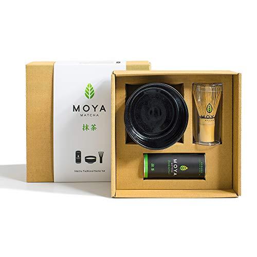 Organischer Moya Matcha Tee Set Pulver Grün | BIO 30g Traditionelle Klasse (II) | Verpackung +...