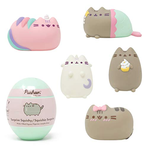 Hamee Pusheen [Surprise Capsule Series] Cute Water Filled Squishy Toy [Birthday Gift Bags, Party Favors, Gift Basket Filler, Stress Relief Toys] - 1 Pc. (Mystery - Blind Capsule)