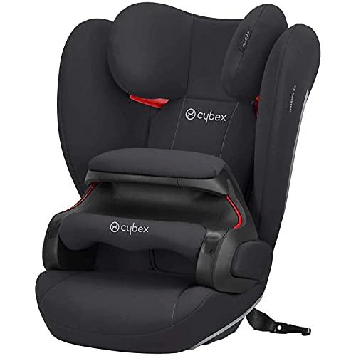 Cybex Silver Seggiolino auto per bambini Pallas B-Fix, Per auto con e senza ISOFIX, Gruppo 1/2/3 (9-36 kg), Da 9 mesi ca. a 12 anni, Nero(Volcano...