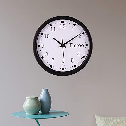 N/ Een stille schoonmaak wandklok digitale klok zwart en wit kleur klok toren klok huisdecoratie