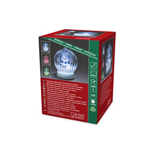Konstsmide 3408-000 Boule de Verre à LED, Plastique/,, 0.12 W, Multicolore