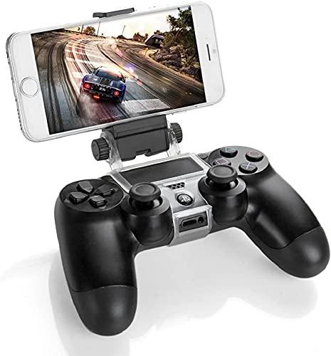 Support de téléphone portable pour manette Playstation 4, PS4 Slim, PS4 pro - Permet d'utiliser la manette avec les jeux de téléphone portable Android