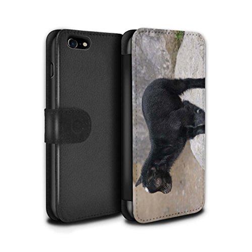 Telefoonhoesje Portemonnee voor Apple iPhone SE 2020 Leuke Huisdier Dieren Kid/Billy Geit Ontwerp Flip Faux PU Lederen Cover Magnetische Sluiting Card Slots