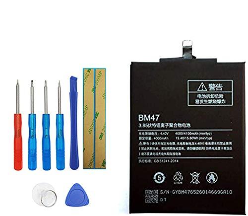 Upplus Batería de repuesto BM47 compatible con Xiaomi Redmi 3 con kit de herramientas.