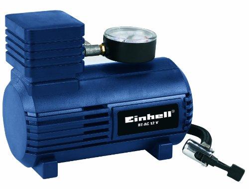 Einhell Auto Kompressor BT-AC 12 V (0-18 bar Druckmanometer, inkl. Anschlusskabel 12 V, Luftschlauch mit Schnellschlussventil und 3 Zusatzadapter)
