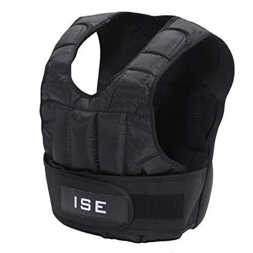 ISE 5kg Gewichtsweste Warnwesten für Gewicht Training Krafttraining Übung