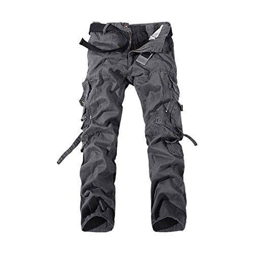 Cool&D Herren Cargo Hose Loose Casual Freizeit Sports Hose Arbeitshose mit Multi Pockets