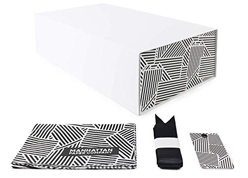 Black  Gold Fancy Gift Box  Wrapping Kit | Medium 105 x 65 x 325 inches Manhattan Gold