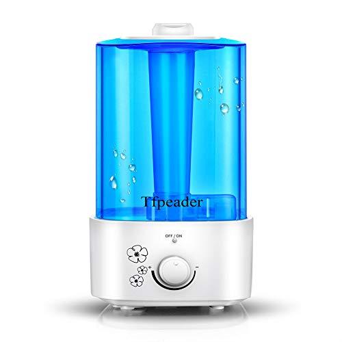 Ultraschall Luftbefeuchter, Tfpeader 2.0L Ultra Air Humidifier Diffuser mit Automatischer Abschaltung, Leise Raumbefeuchter Ideal für Wohnzimmer Schlafzimmer Kinderzimmer Büro