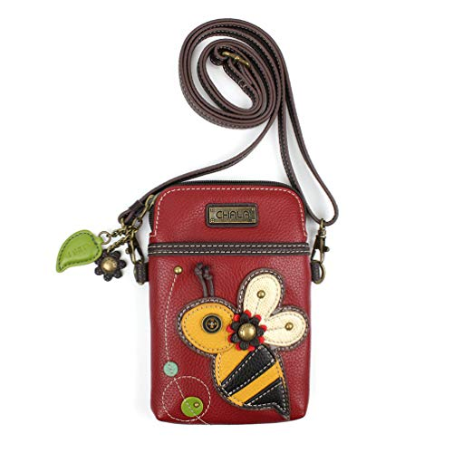 Cell Phone Purse-Women  Bag with Adjustable Strap - Bee
