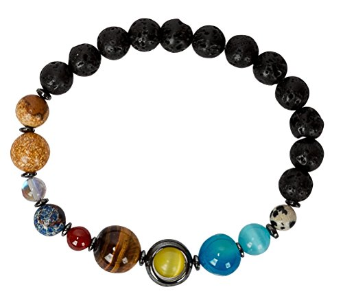 SPUNKYsoul Solar System Earth Planets Bracelet Universe Galaxy His, Men, Him Man Jewelry Gifts Space Collection