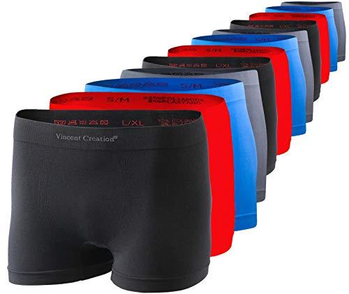 Vincent Creation - Pack de 12 calzoncillos tipo bóxer para hombre, sin...