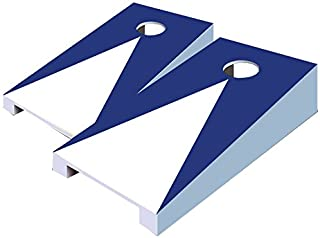 AJJ Cornhole 115 Pyramid Tabletop Cornhole Set, Navy Blue