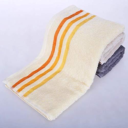 CMZ Toalla Absorbente de algodón Puro, Rayas cómodas y Suaves para Adultos, Toalla de baño Facial doméstica Simple (34x76 cm)