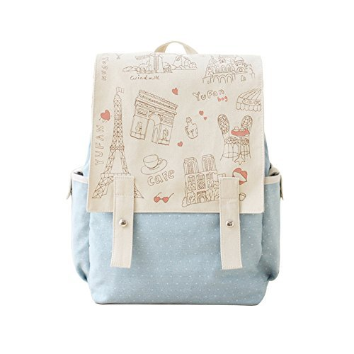 Fashion Cute Women's Bag Canvas Satchel Girls' Lovely Sweet Paris Style Design Backpack Schoolbag Rucksack Colleage Bags by DGQ