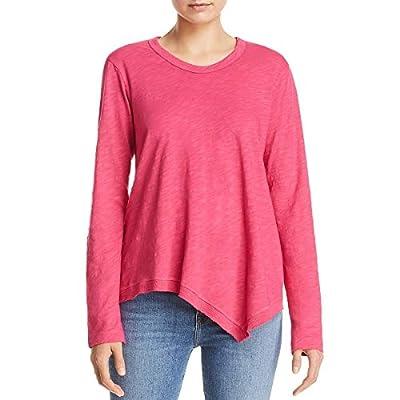 Wilt Womens Raw Edge Asymmetric T-Shirt Pink S