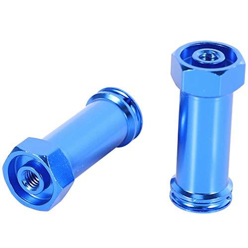 Cuasting 12Mm Aluminio Rueda Hex Adaptadores Largo 29Mm Extensión RC Coche Conversión Piezas para 1/12 12428 12423 Azul Oscuro