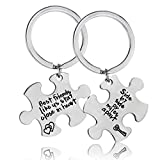 2PCs Best Friend Keyring Side by Side Matching Keychain Set Friendship Gifts Birthday Gifts