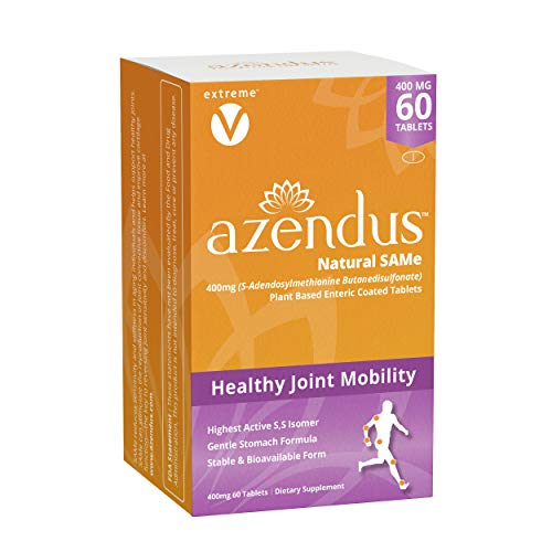 Azendus SAM-e Joint Support 400mg, 60 Count, Same Butanedisulfonate Fiber Enteric Coated Tablets