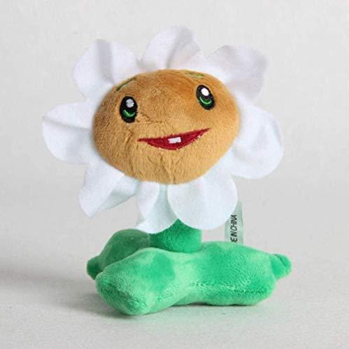 DINGX Pflanzen vs Zombies Spielzeug 10 * 18 cm Weiße Calendula Keychain Cute Puppe Dekoration Gib Freundin Pflanzen vs Zombies Plüschtier Spielzeug Chuangze