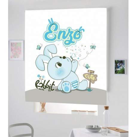 Estor Iroa Personalizable Digital Infantil Rabbit Niño ¡ESTORES ENROLLABLES TRANSLUCIDO O Screen Personalizado con Nombre! (170X170, Tejido Translucido)