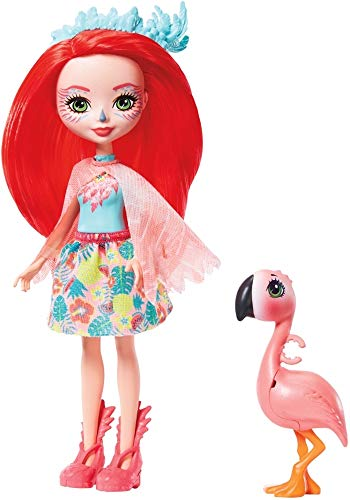 Mattel España, S.A. Muñeca Enchantimals Flamingo 15 cm
