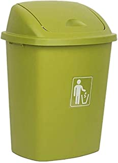 ZXJshyp Outdoor Trash Can Swing Box Home Garden Kitchen Garbage Recycling Plastic Trash Can (Color : Green, Size : 40L)
