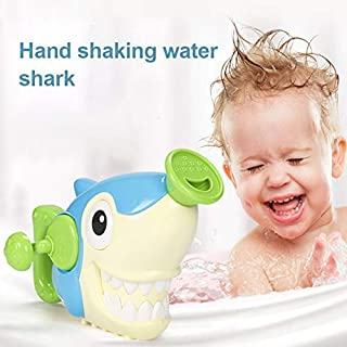 Wirefire Bath Toys Bathtub Shark Toy Tub Spray Water Sprinkler Pool Game Funny Gift for Toddlers Kids Baby Boys Girls 2 3 4 5 Year Old