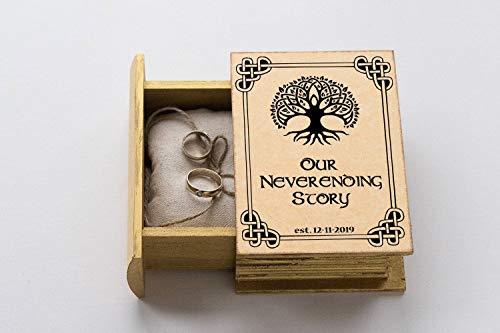 Celtic Wedding ring box, Ring bearer box, Personalized wedding box, Celtic Tree of Life Wedding box, Ring Bearer Pillow, Engagement box, Custom Wedding Ring Box Wedding Ring Holder