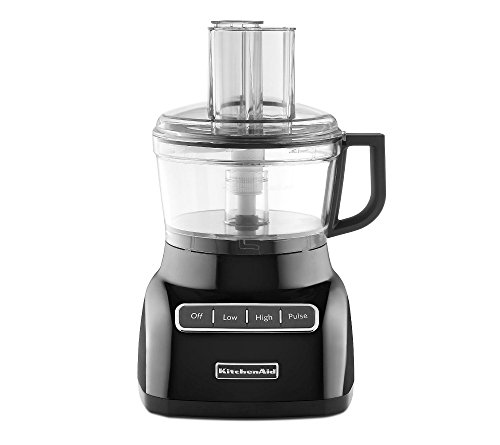 KitchenAid KFP0711OB 7 Cup Food Processor, Onyx Black