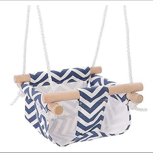 Dongbin Fauteuil Suspendu Enfants balançoire hamac Chaise Enfant imperméable à l'eau Suspendue intérieure et extérieure,Bleu