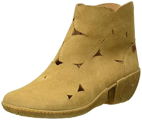 El Naturalista N5483 Lux Suede Camel/Caliza, Botines para Mujer