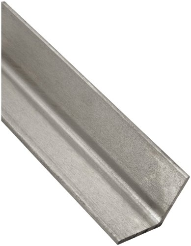304 Stainless Steel Angle, Unpolished (Mill) Finish, Annealed, ASTM A276, Equal Leg Length, Rounded Corners, 1